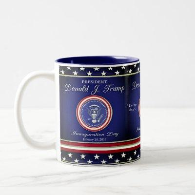 Donald J Trump Inauguration Two-Tone Coffee Mug