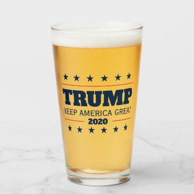 Donald Trump 2020 election Keep America Great beer Glass