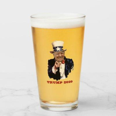 DONALD TRUMP 2020 ELECTIONS REPUBLICAN GLASS