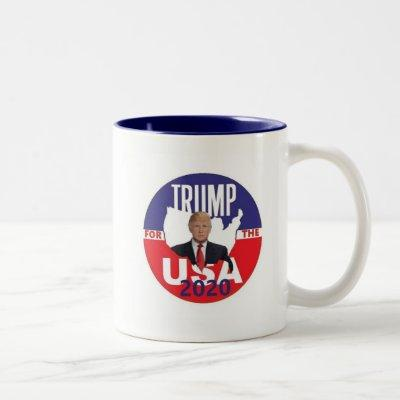 Donald TRUMP 2020 Two-Tone Coffee Mug