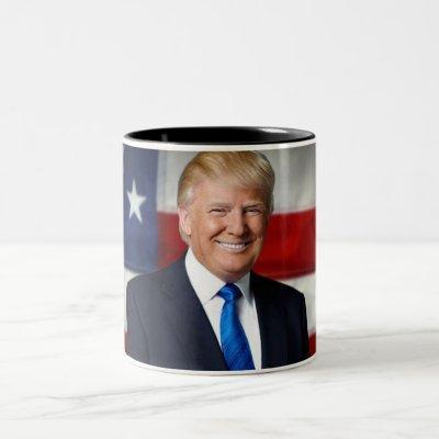 Donald Trump American Flag Mug
