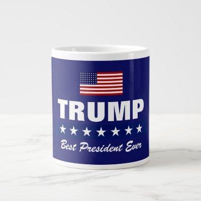 DONALD TRUMP BEST PRESIDENT EVER JUMBO COFFEE MUG