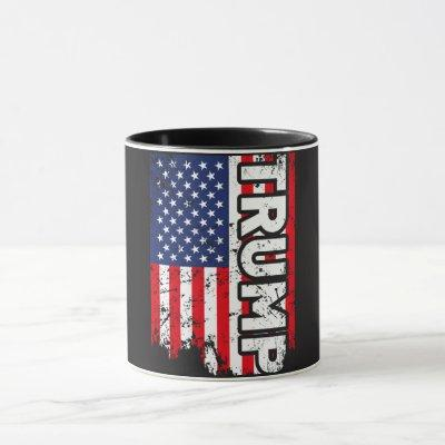 Donald Trump Mug with USA Flag