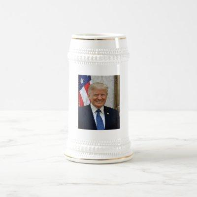 Donald Trump Official President Portrait Election Beer Stein