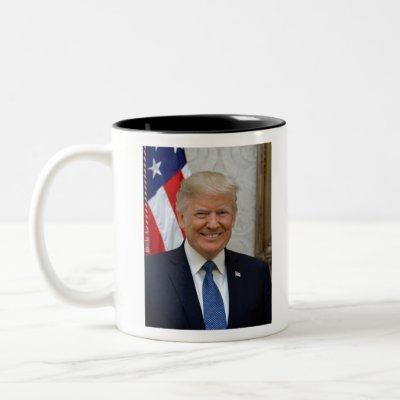 Donald Trump Official Presidential Portrait Two-Tone Coffee Mug