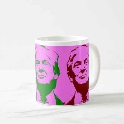Donald Trump Pop Art Vote Trump 2020 Coffee Mug