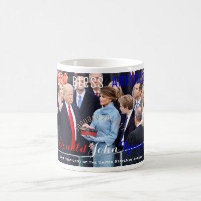 Donald Trump taking his Oath of Office January 20 Coffee Mug