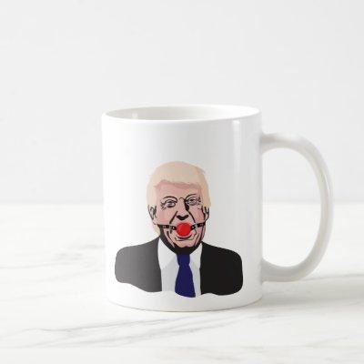 Donald Trump with a gag ball - two image mug - diy