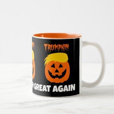 Donald Trumpkin Make Halloween Great Again Two-Tone Coffee Mug