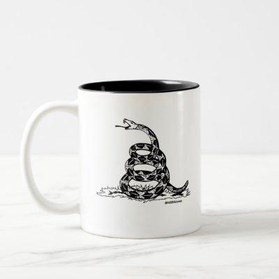 Don't Tread on me Two-Tone Coffee Mug