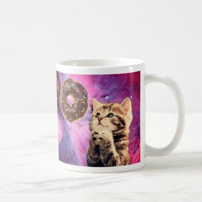 Donut Praying Cat Coffee Mug