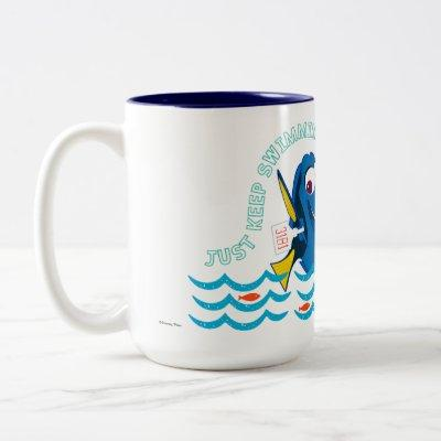 Dory   Just Keep Swimming Two-Tone Coffee Mug