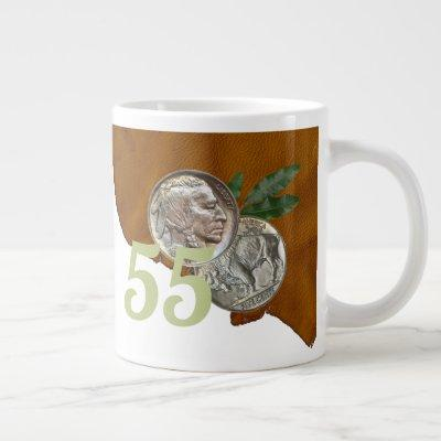 """Double Nickel """"55"""" Birthday Giant Coffee Mug"""