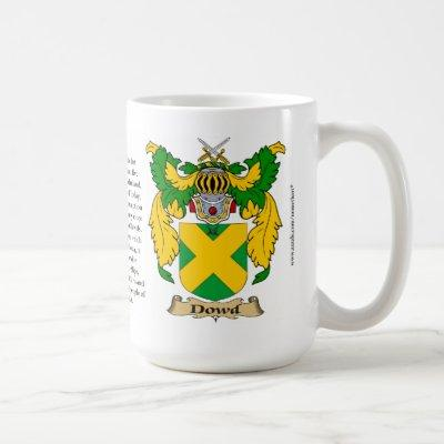 Dowd Family Coat of Arms Coffee Mug