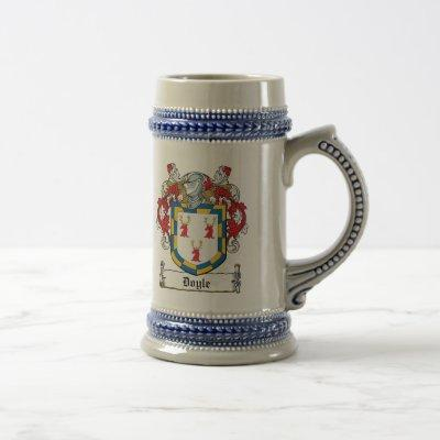 Doyle Family Crest Beer Stein