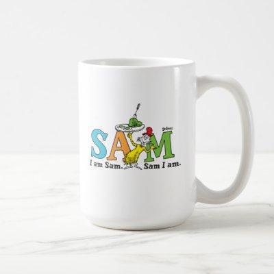 Dr. Seuss   I Am Sam. Sam I Am. Coffee Mug