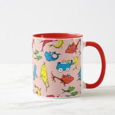 Dr. Seuss   One Fish Two Fish Pattern Mug