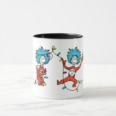 Dr. Seuss | The Grinch | Thing 1 & Thing 2 Dancing Mug