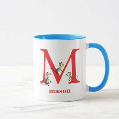 Dr. Seuss's ABC: Letter M - Red | Add Your Name Mug