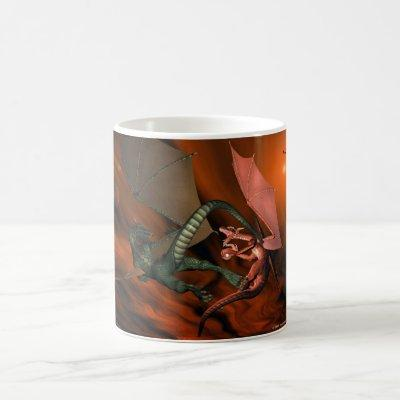 Dragon Fight Customizable Mug