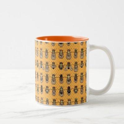 Drosophila Fruit Fly Genetics - mutants - Tangerin Two-Tone Coffee Mug