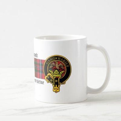 Drummond Scottish crest and Tartan mug