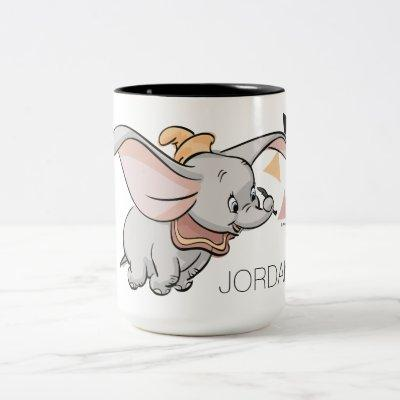 Dumbo Tribal Design Two-Tone Coffee Mug