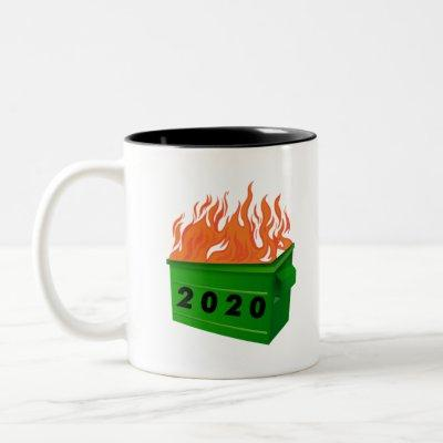 Dumpster Fire 2020 Tshirt Funny Meme Viral Quarant Two-Tone Coffee Mug