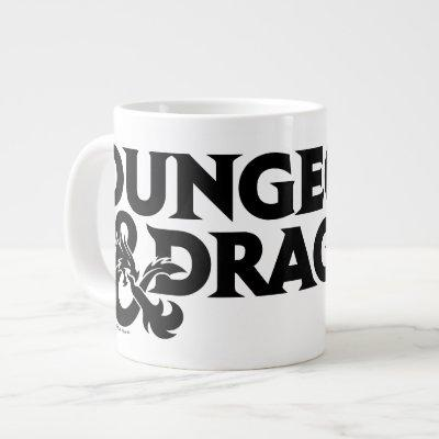 Dungeons & Dragons One-color Stacked Logo Giant Coffee Mug