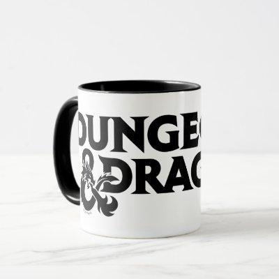 Dungeons & Dragons One-color Stacked Logo Mug