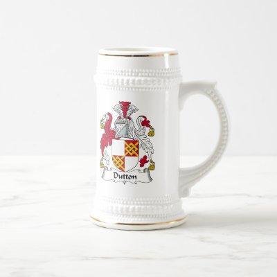 Dutton Family Crest Beer Stein
