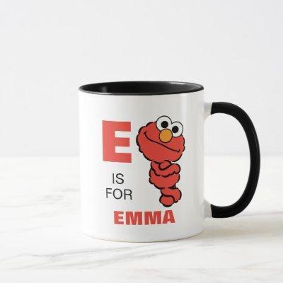 E is for Elmo | Add Your Name Mug