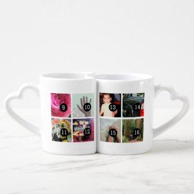 Easily Create Your Own 16 images Instagram style Coffee Mug Set