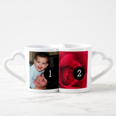 Easily Create Your Own 4 images Instagram style Coffee Mug Set