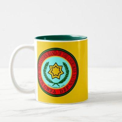 Eastern Band Of The Cherokee Seal Two-Tone Coffee Mug
