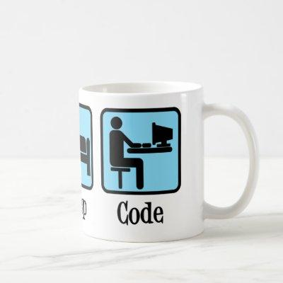 Eat Sleep Code Computer Programmer Geek Coffee Mug