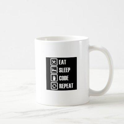 -eat-sleep-code-repeat coffee mug