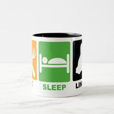 EAT SLEEP LINUX Two-Tone COFFEE MUG