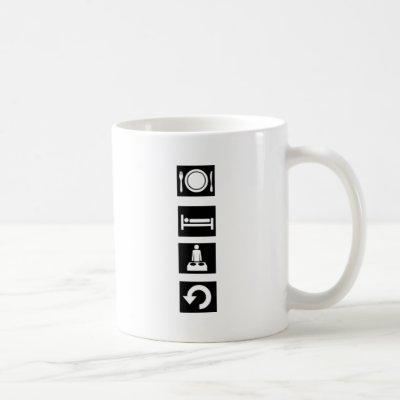 Eat, Sleep, Rave, Repeat. Coffee Mug