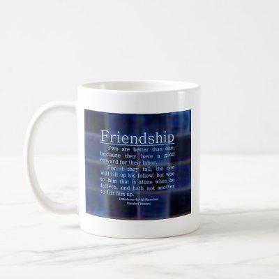Ecclesiastes 4:9-10 coffee mug