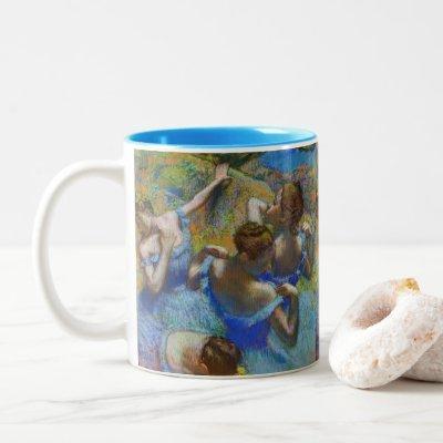 Edgar Degas - Blue Dancers Two-Tone Coffee Mug