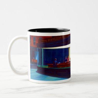 Edward Hopper Nighthawks Two-Tone Coffee Mug
