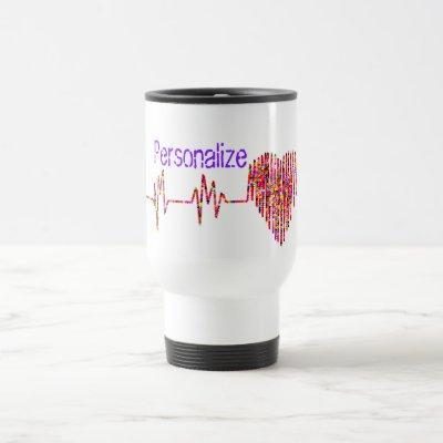 EKG heart medical ekg line Travel Mug