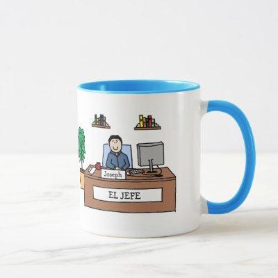 El Jefe - personalized cartoon mug