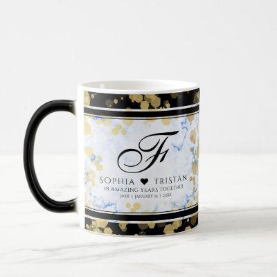 Elegant 18th Porcelain Wedding Anniversary Magic Mug
