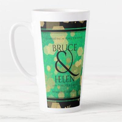 Elegant 19th Jade Wedding Anniversary Celebration Latte Mug