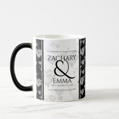 Elegant 60th Diamond Wedding Anniversary Magic Mug