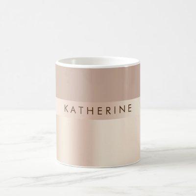 Elegant and stylish rose gold brown coffee mug