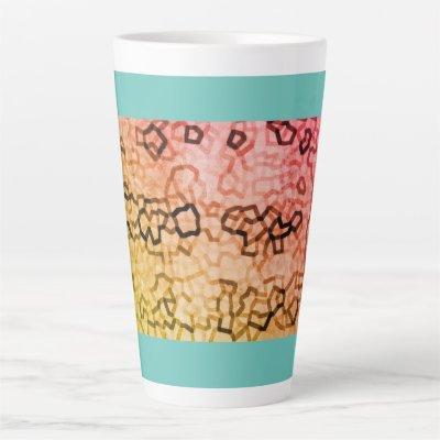 Elegant Blue Pattern Large latte Mug