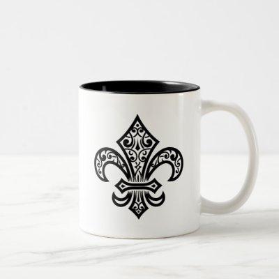Elegant Fleur de Lis Mug (Black)